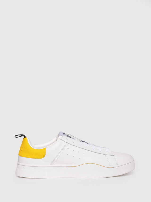 Diesel - S-CLEVER LOW, White/Yellow - Sneakers - Image 1