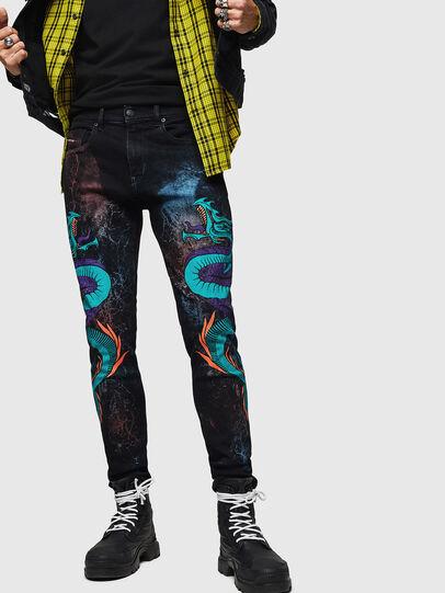 Diesel - D-Strukt 0093E, Black/Dark grey - Jeans - Image 1