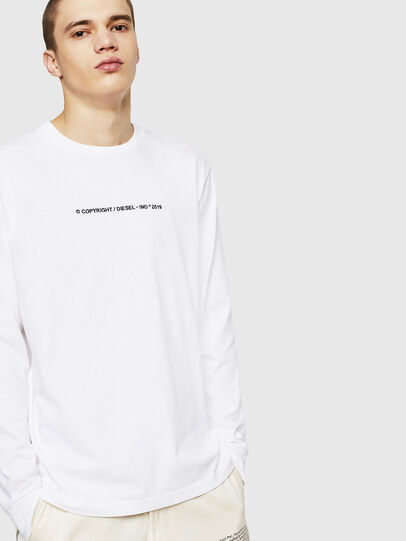 Diesel - T-JUST-LS-COPY, White - T-Shirts - Image 4