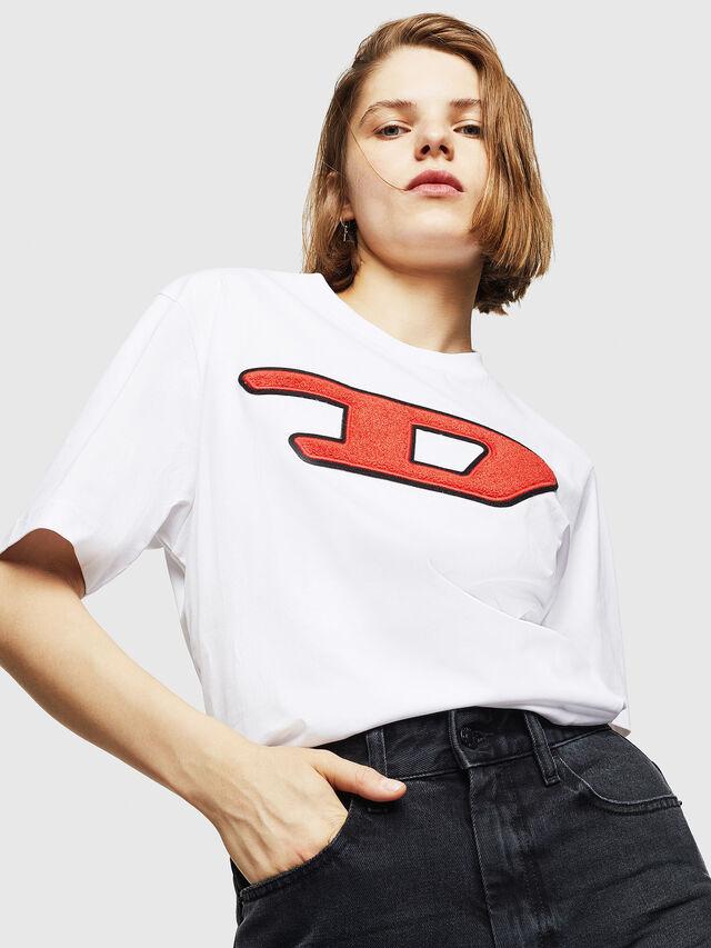 Diesel - T-JUST-DIVISION-D-FL, White - T-Shirts - Image 4