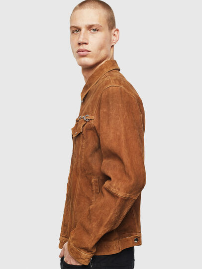 Diesel - L-DEAN, Brown - Leather jackets - Image 6
