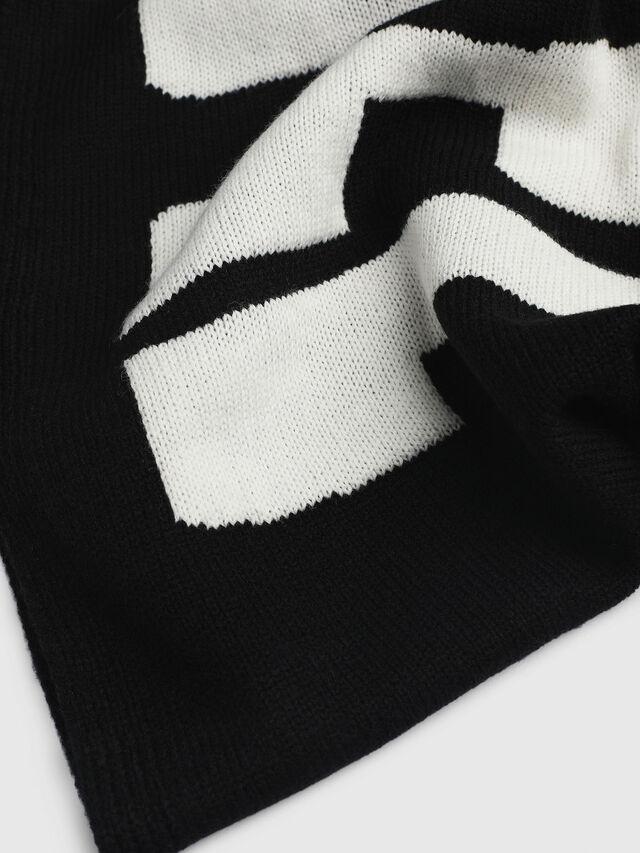 Diesel - K-TEST, Black/White - Scarf - Image 2