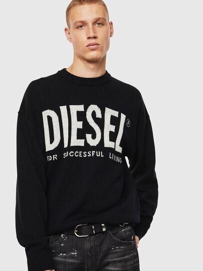 Diesel - K-LOGOS, Black - Knitwear - Image 1