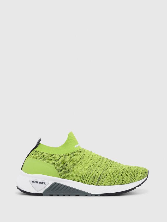 Diesel - S-KB ATHL SOCK, Green Fluo - Sneakers - Image 1