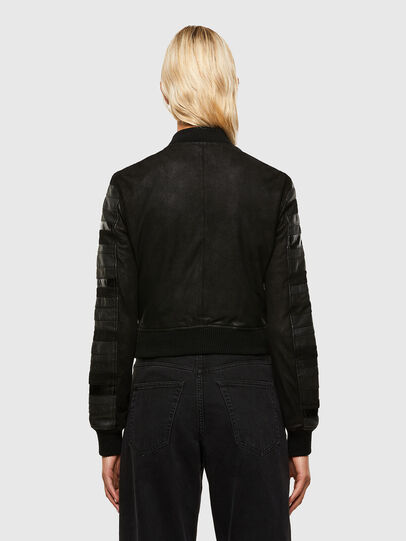 Diesel - L-WALL, Black - Leather jackets - Image 2