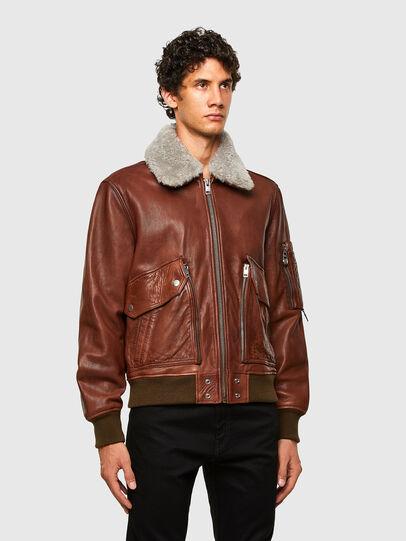 Diesel - L-STEPHEN, Brown - Leather jackets - Image 7
