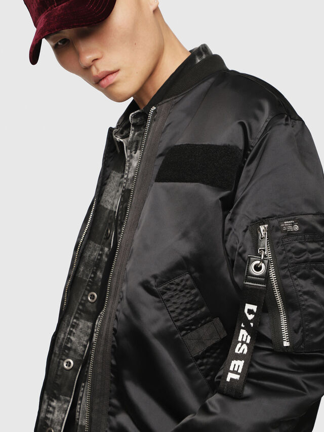 Diesel - J-SOULY, Bright Black - Jackets - Image 3