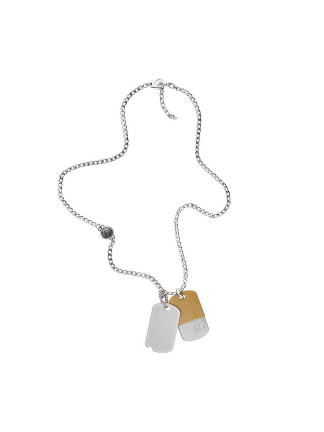 Diesel - NECKLACE DX1055, Silver - Necklaces - Image 1