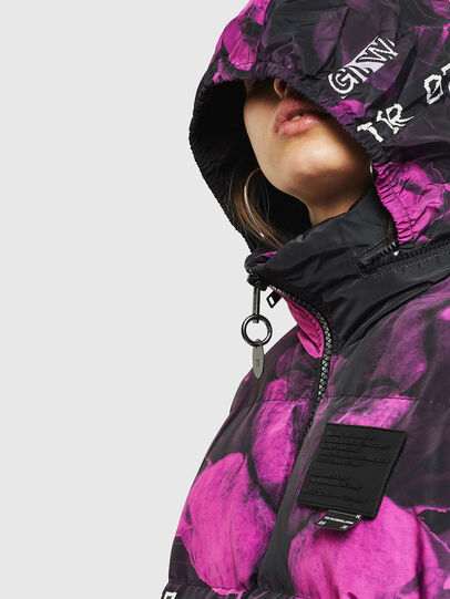 Diesel - W-PIATIGGY, Black/Pink - Winter Jackets - Image 4