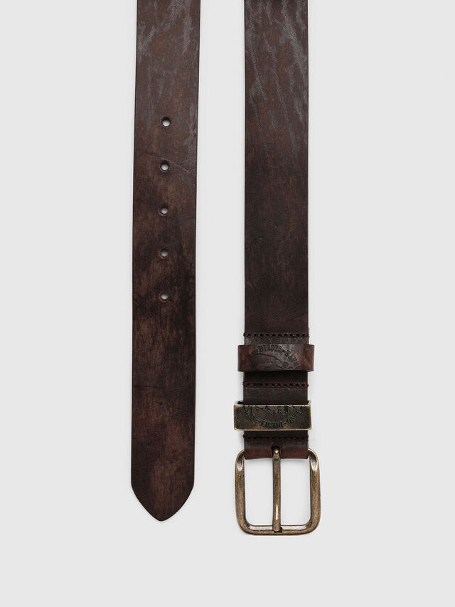Diesel B-FRAG, Brown Leather - Belts - Image 3