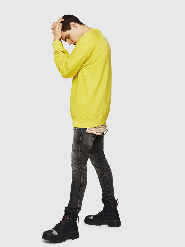 Diesel - S-RODD, Yellow Fluo - Sweaters - Image 6