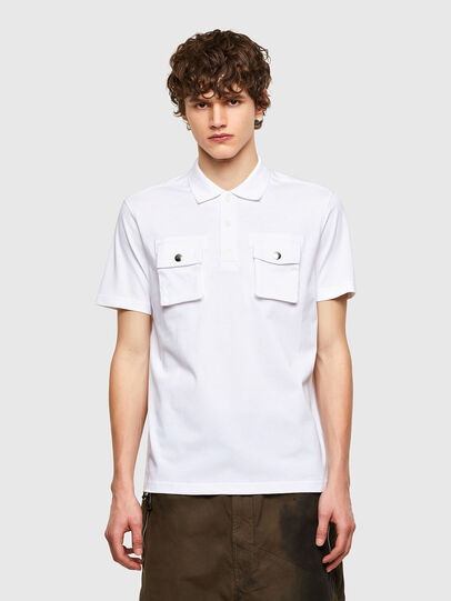 Diesel - T-ERPOLOCK, White - Polos - Image 1