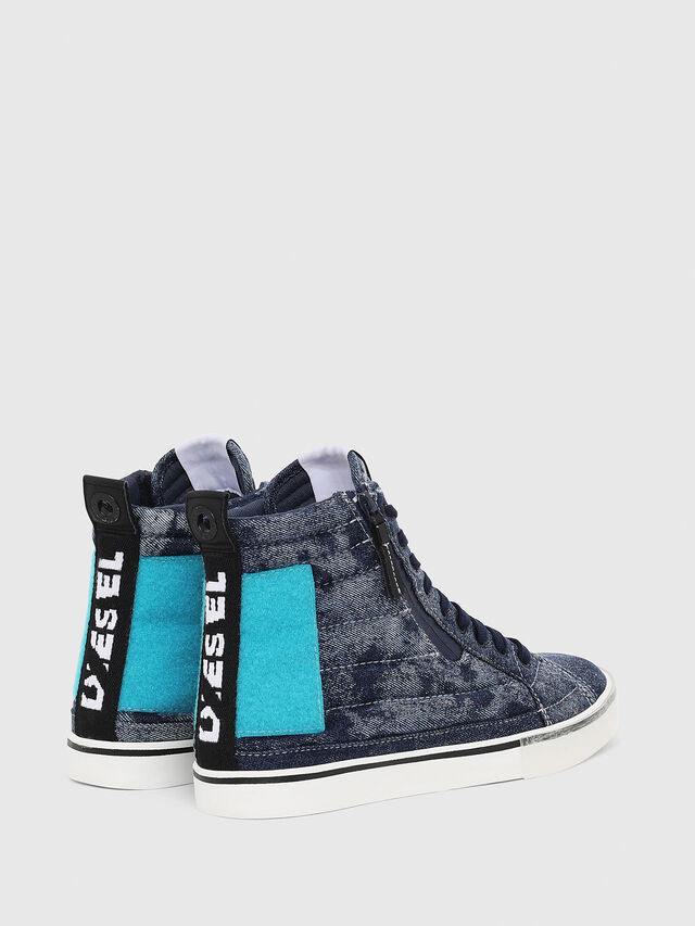 Diesel - D-VELOWS MID PATCH, Blue - Sneakers - Image 3