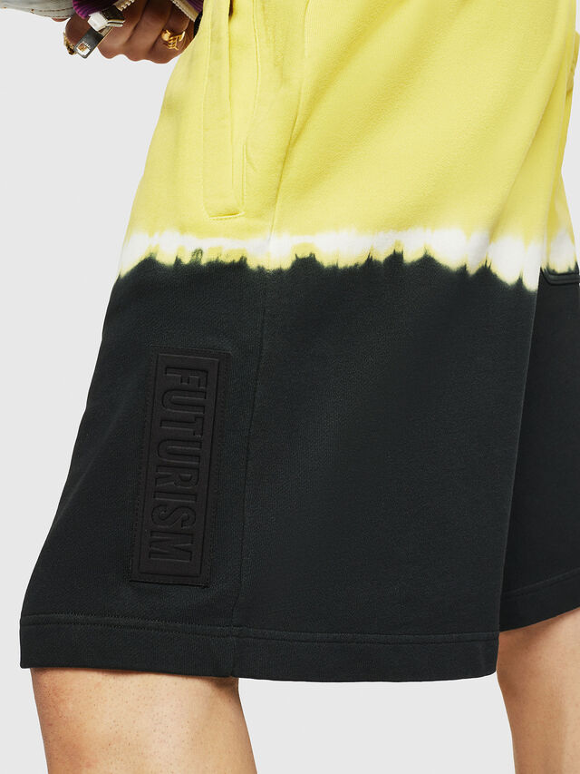 Diesel - P-TOX-DEEP, Black/Yellow - Shorts - Image 3