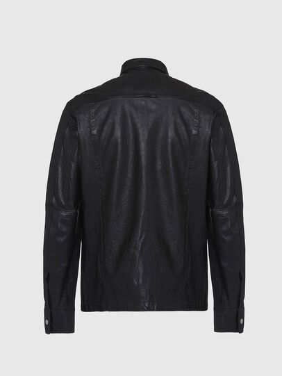 Diesel - L-MALIK, Black - Leather jackets - Image 2