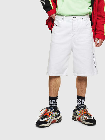 Diesel - D-BRON, White - Shorts - Image 1