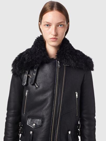 Diesel - L-MARGOT, Black - Leather jackets - Image 3