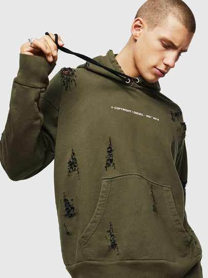 Diesel - S-ALBY-RIP, Military Green - Sweaters - Image 3