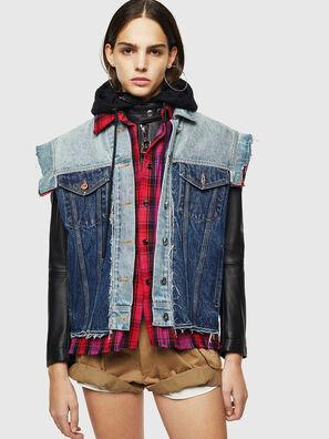 L-MARALI, Blue/Black - Leather jackets