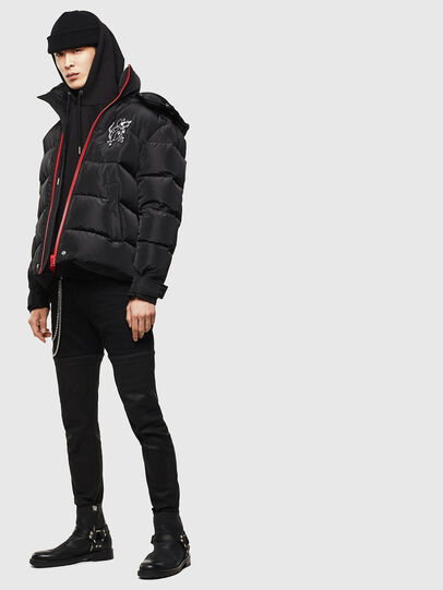 Diesel - CL-W-SMITH-LITM, Black - Winter Jackets - Image 7