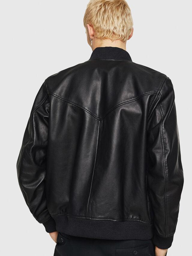 Diesel - L-OLEG, Black/Blue - Leather jackets - Image 2