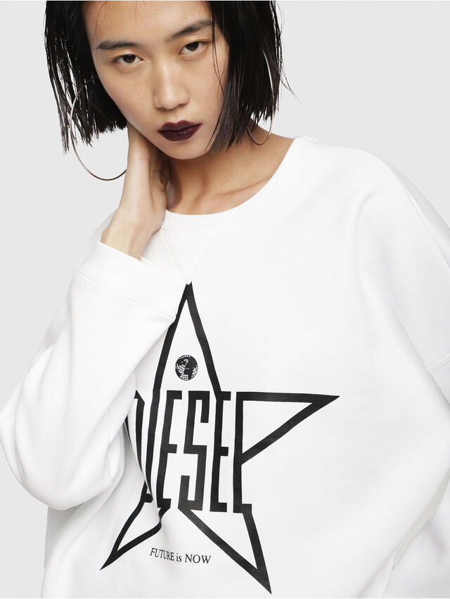 Diesel - F-GERTRUDE-NEW-A, White - Sweaters - Image 3