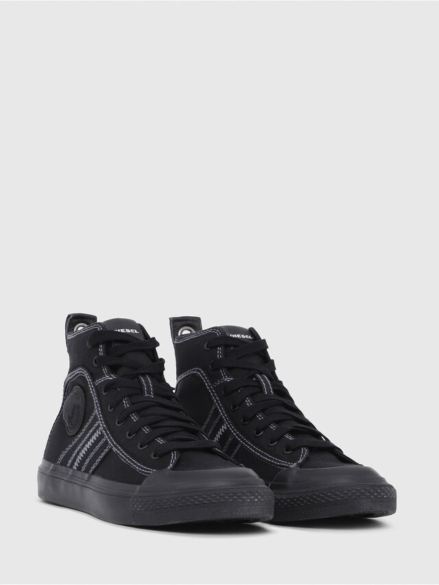 Diesel - S-ASTICO MID LACE W, Black - Sneakers - Image 2