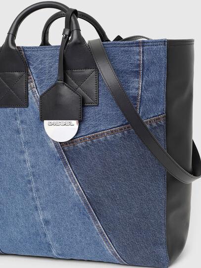 Diesel - LEENA, Blue - Shopping and Shoulder Bags - Image 5