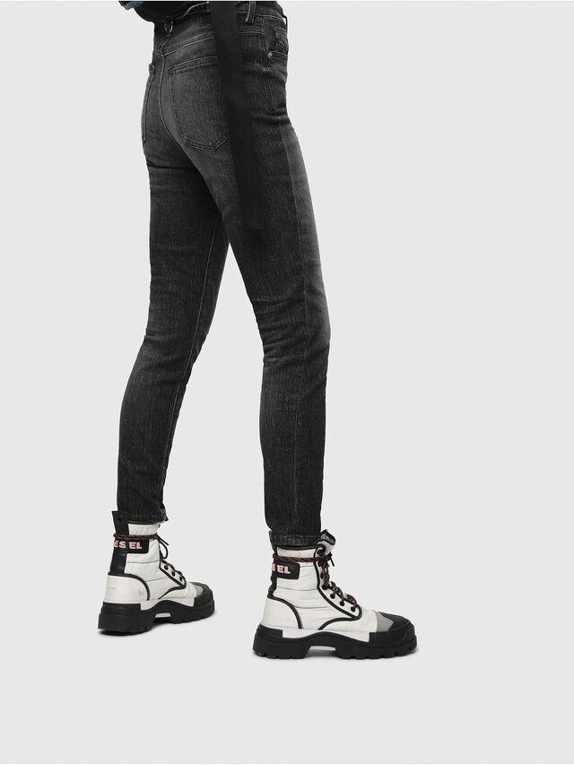 Diesel - Babhila High 089AA, Black/Dark grey - Jeans - Image 3