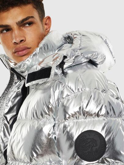 Diesel - W-SMITH-SILVER, Silver - Winter Jackets - Image 6