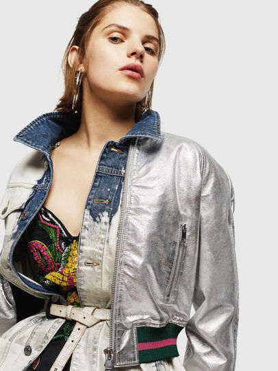 Diesel - L-NOTE, Silver - Leather jackets - Image 5