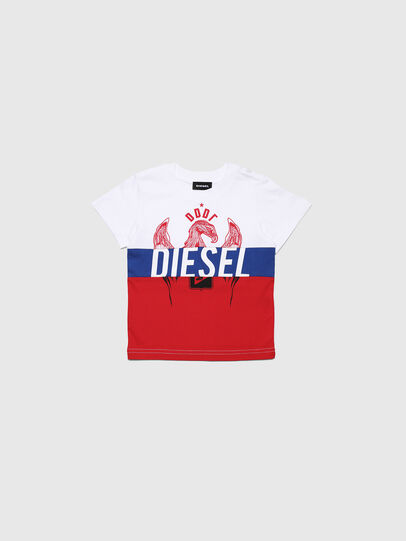 Diesel - TRICKYB-R, White/Red/Blu - T-shirts and Tops - Image 1