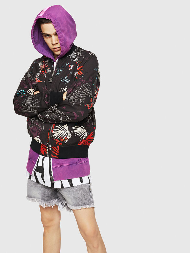 Diesel - J-NAO-PALM, Multicolor/Black - Jackets - Image 4