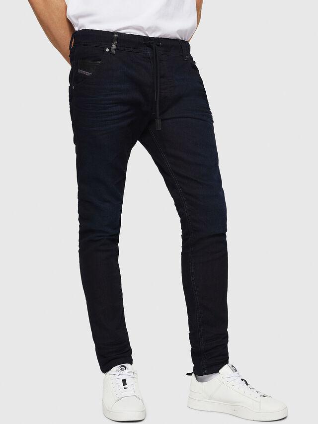 Diesel - Krooley JoggJeans 0829P, Dark Blue - Jeans - Image 1