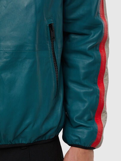 Diesel - L-MATHIAS, Water Green - Leather jackets - Image 4