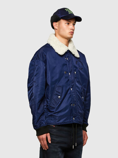 Diesel - J-LEANDER, Blue - Winter Jackets - Image 4