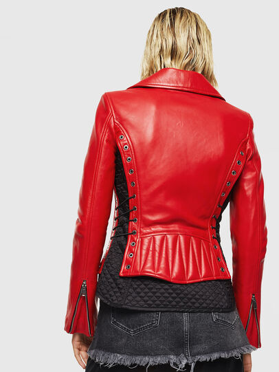 Diesel - L-CARAMA, Red - Leather jackets - Image 2