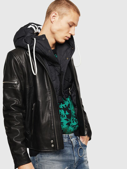 Diesel - L-TOVMAS, Black - Leather jackets - Image 8