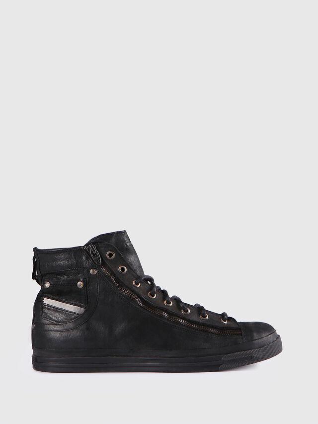 Diesel - EXPO-ZIP, Black Leather - Sneakers - Image 1