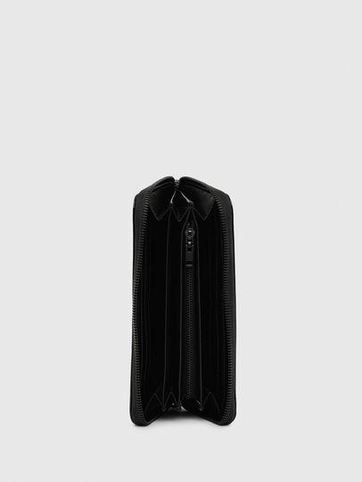 Diesel - 24 ZIP, Black - Zip-Round Wallets - Image 3