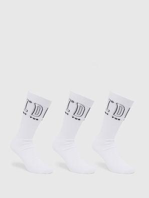 SKM-HERMINE-THREEPAC, White - Socks
