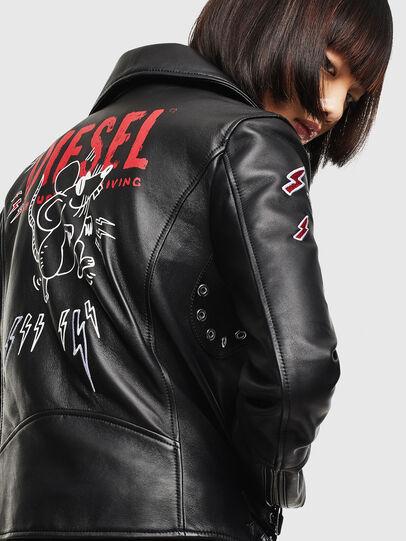 Diesel - CL-L-LYFA-BIGM, Black - Leather jackets - Image 4