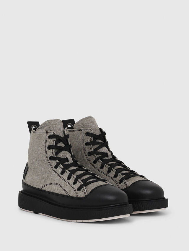 Diesel - H-CAGE DBB, Gray/Black - Boots - Image 2