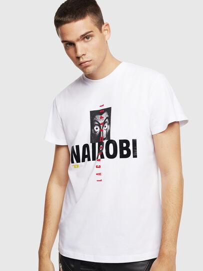 Diesel - LCP-T-DIEGO-NAIROBI, White - T-Shirts - Image 1