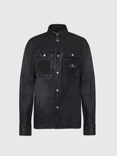 Diesel - L-MALIK, Black - Leather jackets - Image 1