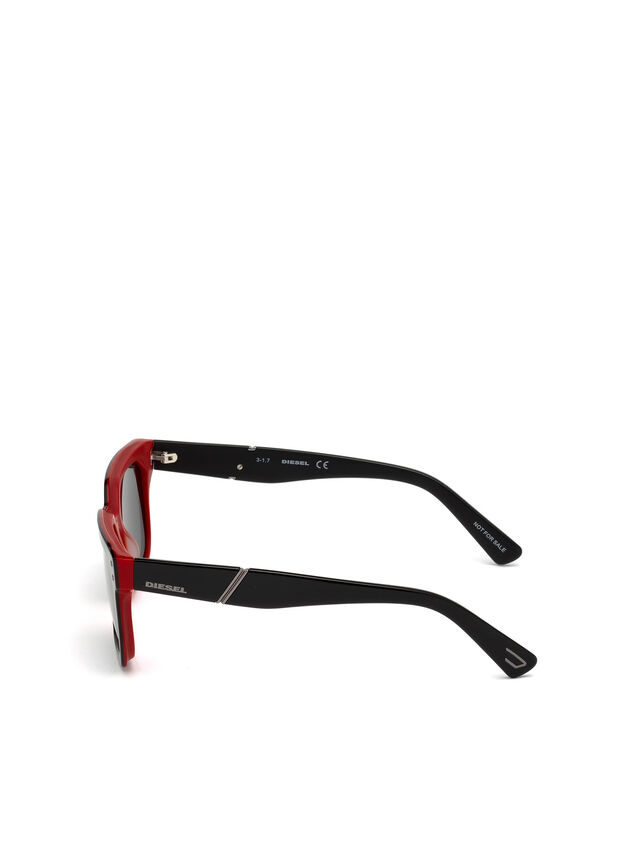 Diesel - DL0253, Black/Red - Eyewear - Image 3