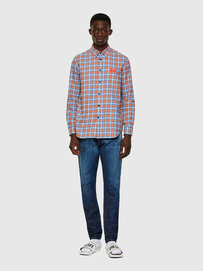 Diesel - S-MOI-CHK-A, Blue/Pink - Shirts - Image 4