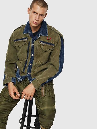 Diesel - D-MALLY, Blue/Green - Denim Jackets - Image 4