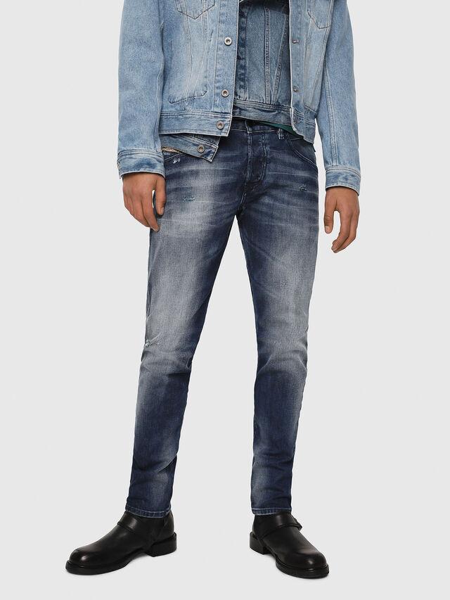 Diesel - D-Bazer 084DD, Dark Blue - Jeans - Image 1