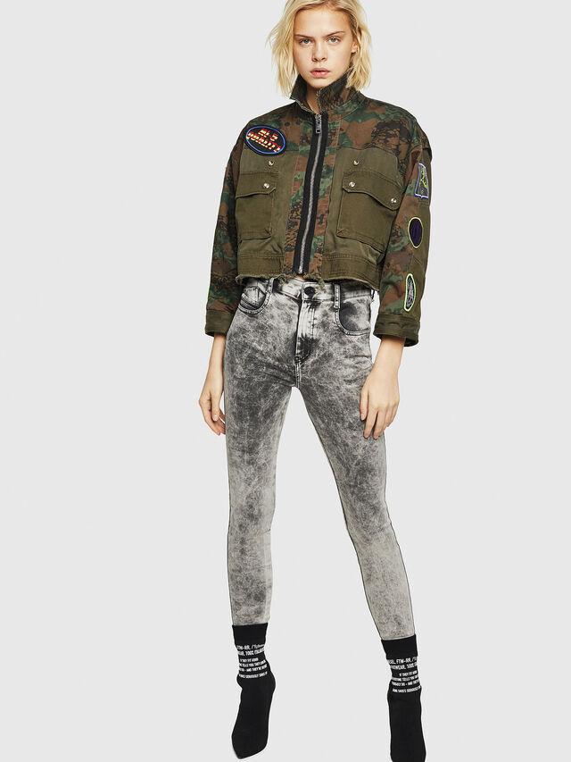 Diesel - Slandy High 069GQ, Light Grey - Jeans - Image 5